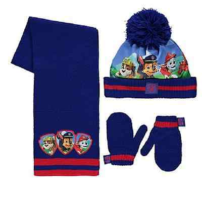 Paw Patrol:2016 Winter Set,scarf/bobble Hat/mittens,1-3,4-6Yr Approx,nwt