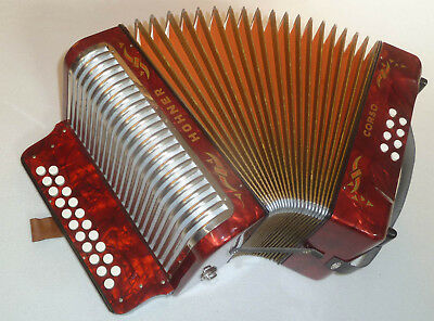 """HOHNER """"CORSO"""", diatonic accordion, melodeon, 3 voices, folk music, in key: C-F"""