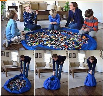 150Cm Kids Lego Toy Storage Bag Play Mat Tidy Carry, 2 In 1,  Uk Seller Free P&p