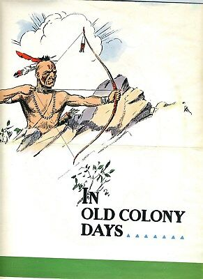 Old Colony Gin Poster and Mailer 1940's Indians and Pilgrims