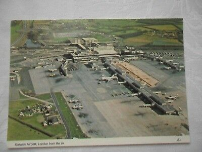 Vintage Postcard  GATWICK AIRPORT from the air