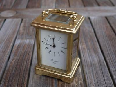 SUPERB VINTAGE WORKING BRASS CARRIAGE CLOCK RAPPORT OF LONDON 9 JEWELS  No 1150