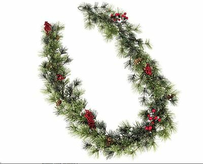 5 ft Five Foot Garland Christmas Xmas Decoration Berry & Cone