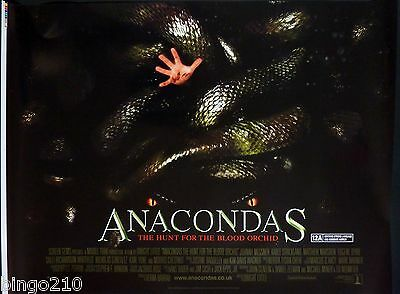 Anacondas The Hunt For The Blood Orchid Original 2004 Quad Poster