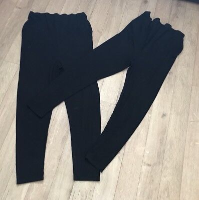 Two Next Maternity Over Bump Leggings Size 14