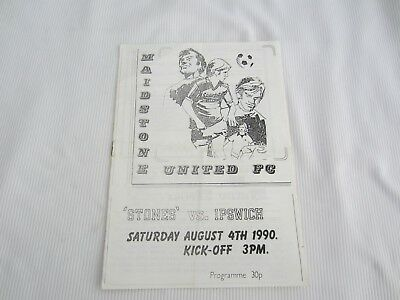 1990-91 FRIENDLY MAIDSTONE UNITED v IPSWICH TOWN