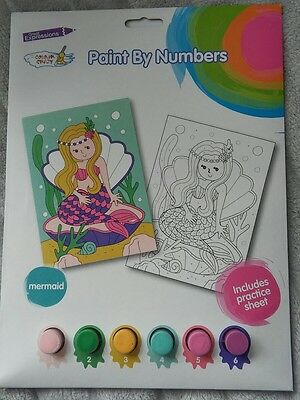 Mermaid Paint By Numbers Brand New