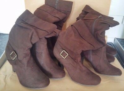 Job Lot of 4 Pairs Of Ladies Heeled Boots NEW