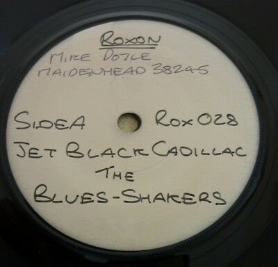 "The Blues-Shakers, Jet Black Cadillac, Roxon Double Sided 7"" Test Pressing."