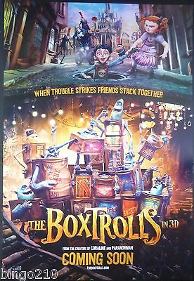 The Boxtrolls 2014 1 Sheet Poster Isaac Hempstead Wright Nick Frost Tracy Morgan