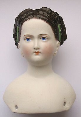 Conta  & Boehme Parian Shoulderhead Fancy Hairstyle, Germany around 1870