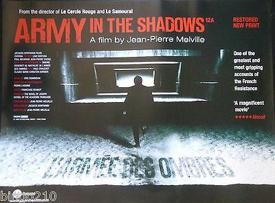 The Army Of Shadows Original Cinema Quad Poster 2006 Bfi Re-Release Melville