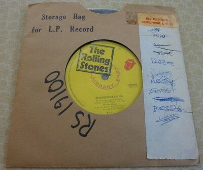 The Rolling Stones, Brown Sugar, 1971 Bbc Television Gramophone Library Single