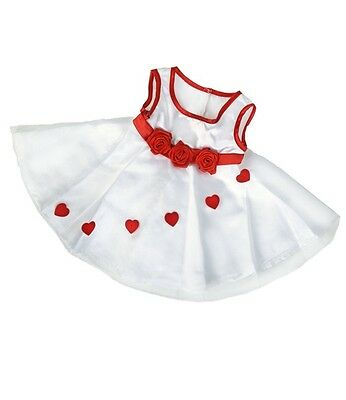 """Adorable hearts dress outfit teddy bear clothes fits 15"""" Build a Bear"""