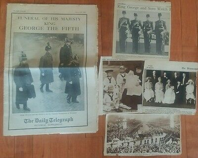 The Daily Telegraph British Newspaper January 29 1936 King George V Funeral +