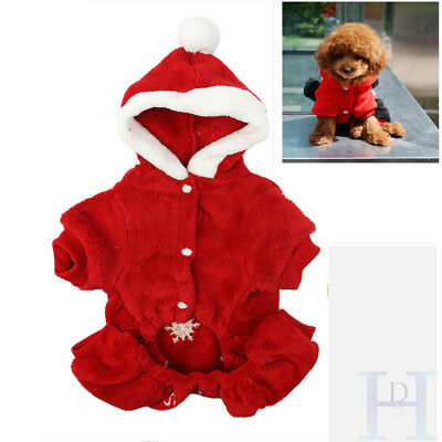 Pet Puppy Cat Dog Xmas Clothes Christmas Snowflake Coat Costume Outfit Apparel