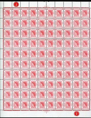 1954 Hong Kong GB QEII 25c Definitives in Complete Sheet of 100 stamps MNH U/M