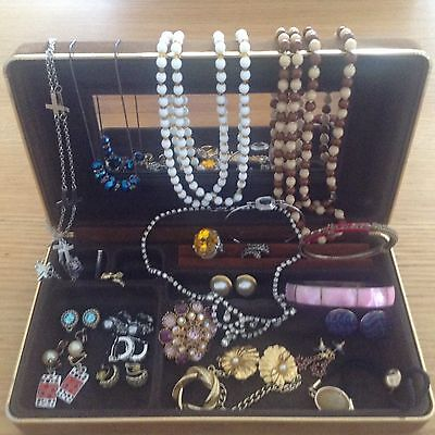vintage and modern costume jewellery mixed lot