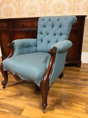 Superb & Beautiful Antique Victorian Armchair Howard Style Reading chair