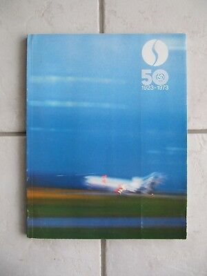 SABENA 50 Years 1923-1973 book brochure 100 pages BELGIAN AIRLINES