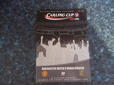 2006 League POKAL FINALE MANCHESTER UNITED V Wigan