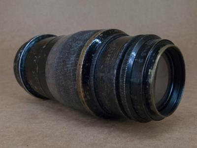 Leitz Leica 135mm 1:4.5 Hektor Black finish 1937 converted to M42 screw mount