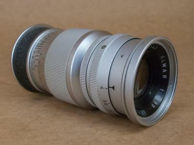 Leitz Leica 90mm 1:4 Elmar Lens E42 -  screw mount