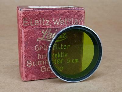 Leitz Leica GCYOO / 13095 Gr Yellow-Green Filter for 5cm Summitar - Boxed