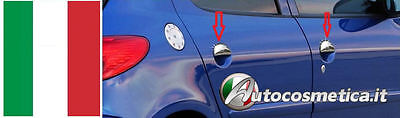 Peugeot 206 SET 4 COVER HANDLES STEEL CHROME CHROME-PLATED PRINTED