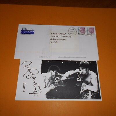 Nino Benvenuti is a retired Italian boxer and actor Hand Signed Photo Envelope