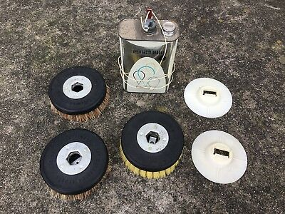 Brushes and Can  for Vintage GE Floor Buffer Scrubber Polisher
