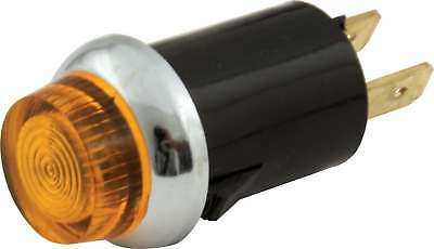 QUICKCAR RACING PRODUCTS Amber 3/4 in Diameter 12V Warning Light P/N 61-704