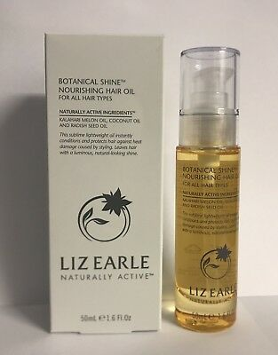 LIZ EARLE Botanical Shine Nourishing Hair Oil 50ml Full Size NEW IN BOX