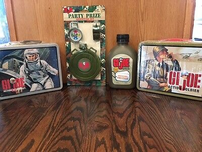 Vintage Lot of 2 GI Joe NEW includes Action Soldier, Action Astronaut lunchboxes