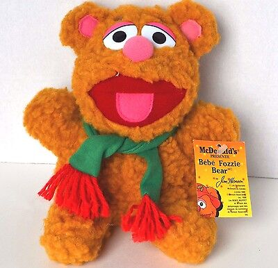 Muppets Christmas Baby Fozzy Bear plush vintage 1988 McDonald's stuffed toy