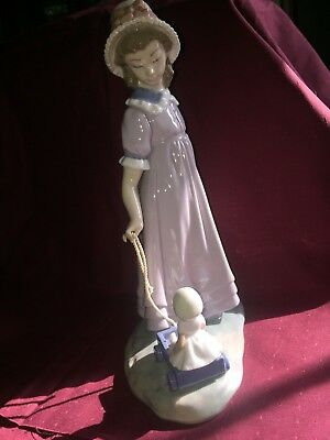 lladro girl with toy wagon