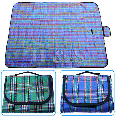 "X Large 57x79"" Waterproof Picnic Blanket Beach Mat Camping Travel Rug Outdoor"