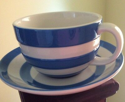 Cornishware/tg Green   Tea Cup/saucer New