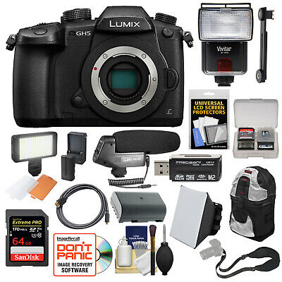 Panasonic Lumix DC-GH5 Wi-Fi 4K HD Digital Camera Body Kit