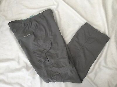Craghoppers Womens Lightweight Zip Off Walking Hiking Trousers Shorts Uk Size 16