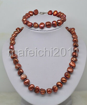 Very Rare 10-11mm Baroque Pearl Necklace*Bracelet