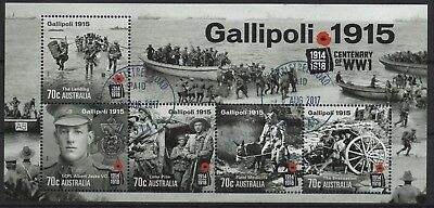 Australien Australia used 2015 Block sheet Blöcke 273 4288 - 4292 Gallipoli