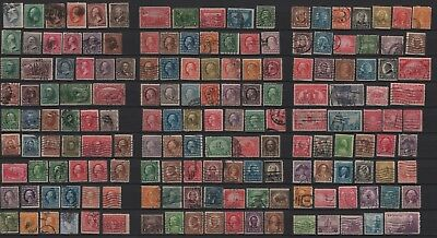 USA used 1870 - 1934 old collection Präsidenten different Perforation