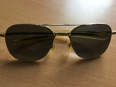 Vintage Randolph Engineering aviator pilot sunglasses paddle arm original lens