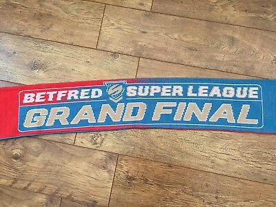 RUGBY LEAGUE SUPER LEAGUE GRAND FINAL SCARF 2017 Leeds v Castleford