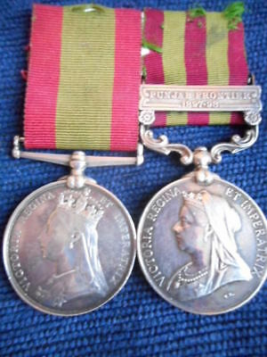 India General Service Medal & Afghan Pair To Superintendent Of Punjab Police