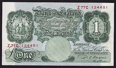 UK One Pound Banknote P S Beale 1949 P-369b