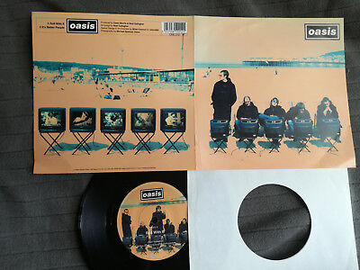 """OASIS Roll With It UK Creation 7"""" picture sleeve vinyl record"""