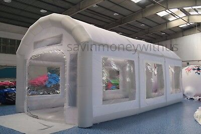 26x13x11Ft Inflatable Spray Paint Booth Tent Car Custom + Filtration System+ Fan
