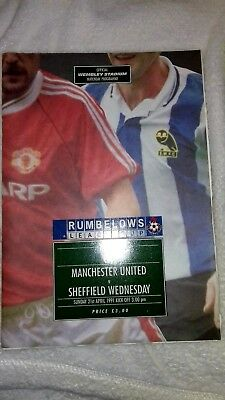 League Cup Final Programme 1991 Manchester United vs Sheffield Wednesday